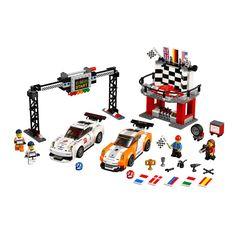 LEGO Speed Champions - Porsche 911 GT la linia de finis (75912), jucarii LEGO ieftine de Craciun