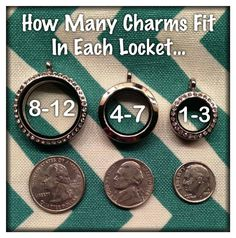 How many charms will fit in your origami owl locket? THIS MANY!!! And the Medium and large lockets hold the new Window Plates!! Shop NOW!! Visit my online store at www.laureenhall.origamiowl.com to build your story!