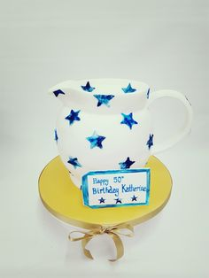 Emma Bridgewater fan cake! Happy 50th Birthday, Birthday Cakes, Emma Bridgewater, Tea Cups, Hobbies, Arts And Crafts, Fan, Mugs, Tableware
