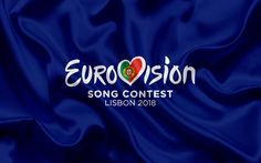 Lataa kuva Eurovision Song Contest 2018, logo, tunnus, Portugali 2018, Lissabonin, song contest
