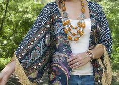 DIY Fringed Kimono - Earnest Home co.