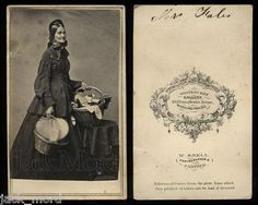 Very RARE Unpublished CDV Photo of Almira Fales Civil War Nurse ★ Washington DC | eBay ~~~~ Look at these BASKETS!