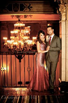 Old Hollywood, vintage style engagement shoot at the Hollywood Roosevelt.