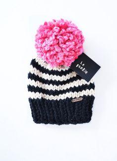 Toddler  beanie  hat with pom pom  baby beanie  knit by LePunkie.com