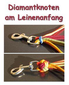 Diamantknoten 4-fach am Leinenanfang