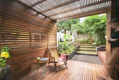 The pavilion was conceptualized as an inhabitable piece of furniture within a garden.
