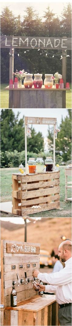 18 Unique & Creative Wedding Drink Bar Ideas for Outdoor Wedding #wedding #weddingbar #weddingreception #weddingideas