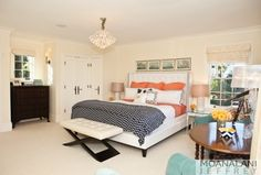 White cream bedroom with coral accents cute bedroom warm and bright elegant teen bedroom