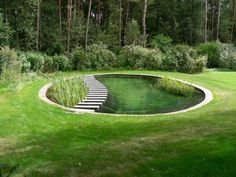 Mehr Source by The post Runder Pool – Teich. Swimming Pool Pond, Natural Swimming Ponds, Natural Pond, Swimming Pool Designs, Pond Design, Landscape Design, Garden Design, Design Design, Stock Tank Pool