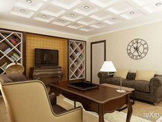 Кабинет: интерьер, квартира, дом, кабинет личный, кабинет руководителя, неоклассика, 20 - 30 м2 #interiordesign #apartment #house #personalcabinet #officeofceo #neoclassicism #20_30m2 arXip.com