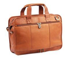 Slimline Executive Leather Laptop Briefcase