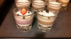 Strawberry or coffee pana cotta