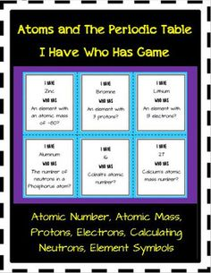 Atomic structure atoms and periodic table quizzes periodic table periodic table i have who has game urtaz Images