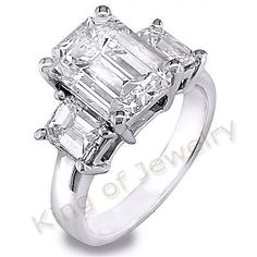 3 14 Ct Emerald Cut Diamond Engagement Ring Anniversary | eBay