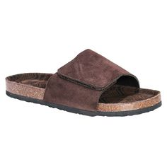 Men's Muk Luks Jackson Slide Sandals - Brown 12