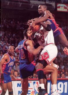 The GOAT took his share of punishment from the Bad Boy Pistons  Dennis  Rodman and Isiah Thomas before he started dishing it back out. c5d44b25f