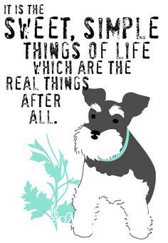 Miniature Schnauzer Dog Art Print Wall Decor Laura Ingalls Wilder Quote. $14.00, via Etsy.