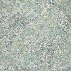 Neck Roll Pillow in Teglan Aquamarine Gray & Green