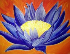 """Indigo Flame Lotus"" Artist: Mert Wray"