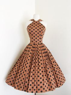 Quintessential... vintage 1950's Jerry Gilden polka dot pin up sundress