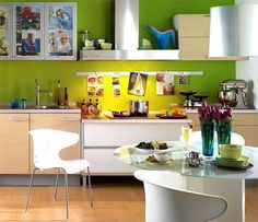 Combination of colors in the Interior of the kitchen-1