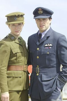 Foyle's War, Sam and Andrew in uniform, though I think I prefer the flight jacket.....
