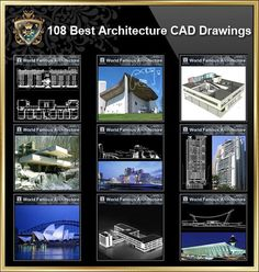 【All Building Elevation CAD Drawing Collections】 All CAD .DWG files are compatible back to AutoCAD Spend more time designing, and less time drawing!Best Collections for architects,interior designer and landscape designers. Famous Architecture, Architecture Drawings, Architecture Details, Innovative Architecture, Tadao Ando, Renzo Piano, Le Corbusier, Exeter Library, Therme Vals
