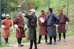 Local archery competition in Bhutan