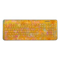 Abstract Art Painting Orange Yellow Pink Red Green Wireless Keyboard
