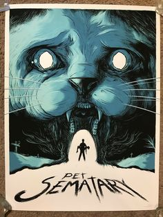 """""""Pet Sematary"""" screen print by Matthew Johnson This is a limited edition print for Hero Complex Gallery's """"King For A Day"""" tribute to Stephen King. Stephen King It, Films Stephen King, Horror Movie Posters, Horror Movies, Pet Sematary, Fan Poster, Movie Poster Art, Print Poster, Art Print"""