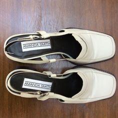 0de20e1cffbb Amanda Smith Tan Leather Upper Cuban Heel Women s shoes Size 9 M   AmandaSmith  PumpsClassics