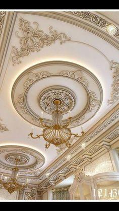 Plaster Ceiling Design, Gypsum Ceiling Design, Interior Ceiling Design, House Ceiling Design, Ceiling Design Living Room, Bedroom False Ceiling Design, Ceiling Decor, Roof Ceiling, Ceiling Canopy