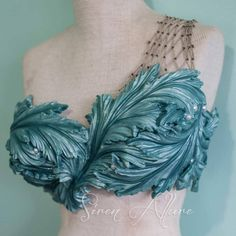 """Finished this gorgeous seaweed top for a lovely mermaid at mermania…"
