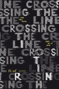 Studio Philippe Apeloig –Crossing the Line, Fiaf Fall Festival 2010