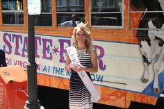 Miss Virginia, Courtney Garrett, helped Ginny promote the fair.