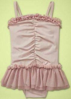 Baby Gap NWT Dance Tutu Skirted Tulle Swimsuit One-Piece Lilac 4 4T Swim Ruffled