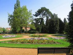 Beautiful gardens adjoining the Abbey Park