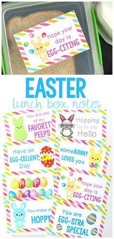 These Easter Lunch Box Notes add a fun little seasonal surprise to your child's lunch. They are sure to brighten up their day and put a smile on your child's face. #easter #forkids #lunch #printable