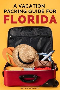 Heading off to a vacation in Florida? This Florida Vacation Packing List has everything you need to take on your vacation! You will find all of the best essentials for packing on this list! Make sure these items are in your suitcase for your next trip! Visit Florida, Florida Vacation, Florida Travel, Vacation Trips, Beach Vacations, Family Vacations, Orlando Vacation, Vacation Packages, Packing Tips For Vacation
