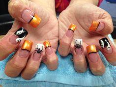 Day 280: Spiders, Stitches & Spirits Nail Art - - NAILS Magazine