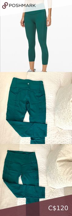 """Lululemon All The Right Places Crop II 23"""" BRAND NEW, NEVER WORN They're too cropped for me, I prefer the 25"""". Beautiful teal color 💙💚 A pocket on the back and two pockets on the sides for your cellphone or your cards. lululemon athletica Pants & Jumpsuits Leggings Michael Kors Makeup Bag, Lululemon Leggings With Pockets, Michael Kors Selma, Plus Fashion, Fashion Tips, Fashion Trends, Teal Colors, Black Leggings, Pant Jumpsuit"""