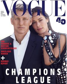 Vogue Germany Febuary 2019 cover, Ana Ivanovic and Bastian Schweinsteiger Vogue cover Ana Ivanovic, Vogue Magazine Covers, Vogue Covers, Champions League, J Collection, Bastian Schweinsteiger, Interview, Toni Garrn, Celebrity Photographers
