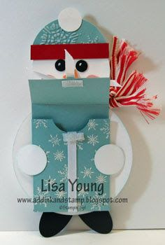 Add Ink and Stamp: Snowman Gift Card Holder http://addinkandstamp.blogspot.com/2010/12/snowman-gift-card-holder.html