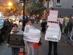 LOVE THIS - the  Whitney, Guggenheim and New Museum as Halloween costumes