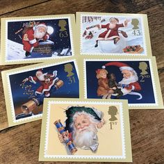 Father Christmas, Cracker Postcards, Set of five Post Office Postage Stamp PHQs, vintage picture Cards from the Father Christmas, Christmas Books, Vintage Christmas, Christmas Cards, Xmas Pictures, Vintage Pictures, Postcards For Sale, Vintage Postcards, Vintage Gifts