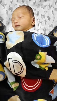 Boy with Colorful Blanket