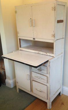 Antique 1930 50s Easiwork Model 310 Kitchen Cabinet Retro Vintage Shabby Chic