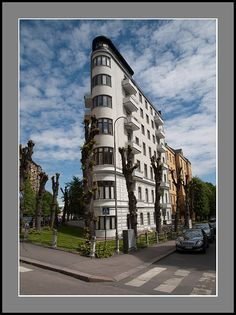 This photo from Southern Finland, South is titled 'Flat Iron House'. Flatiron Building, Flat Iron, Helsinki, Architecture Details, Finland, Europe, House, Travel, Hair Iron