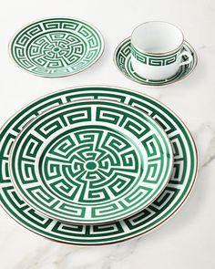 -74XJ Richard Ginori 1735 Labirinto Green Salad/Dessert Plate Labirinto Green Teacup Labirinto Green Bread & Butter Plate