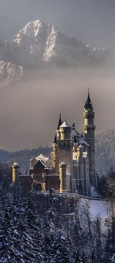 Schloss Neuschwanstein Castle of Ludwig II of Bavaria Places Around The World, Oh The Places You'll Go, Places To Travel, Places To Visit, Beautiful Castles, Beautiful Buildings, Beautiful Landscapes, Wonderful Places, Beautiful Places